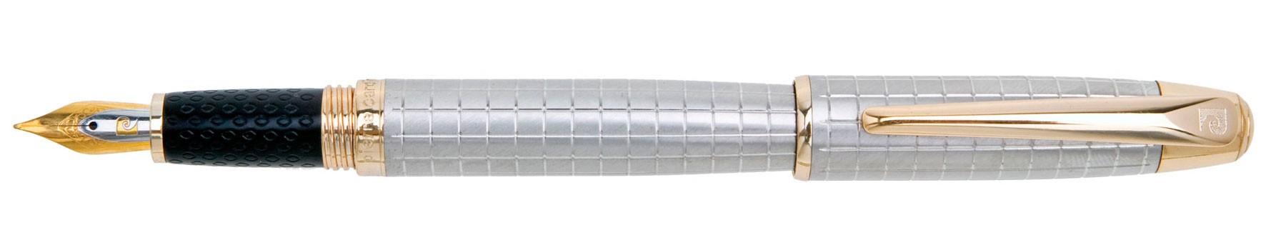 Хромовая перьевая ручка с гравировкой Pierre Cardin De Style