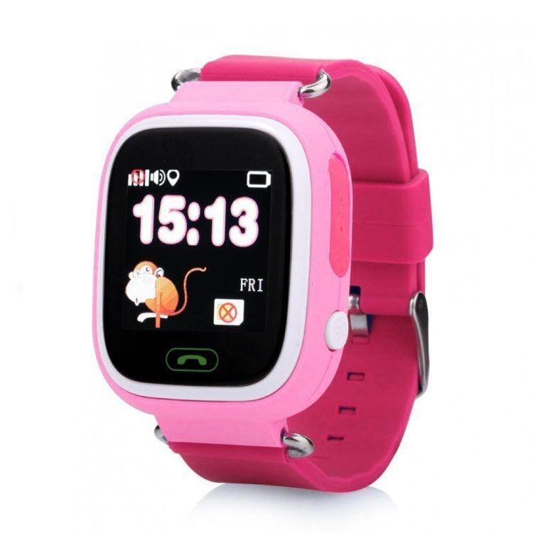 Розовые детские часы Smart Baby Watch Q80