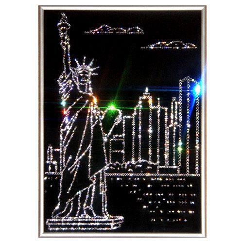 Хрустальная картина «Нью-Йорк»