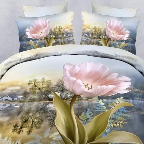 Комплект постельного белья Asia 3Д (евростандарт)
