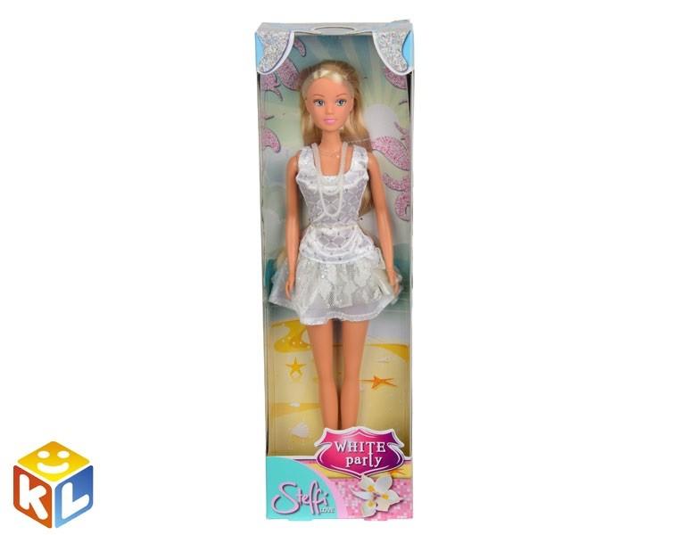 Кукла Штеффи в белом летнем платье, 29 см, Simba