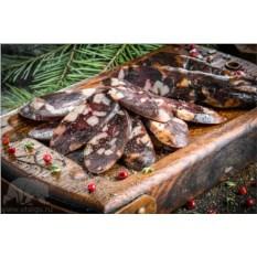 Домашняя колбаса из мяса лося