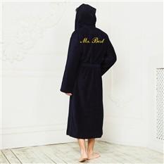 Бамбуковый халат с именной вышивкой Барон