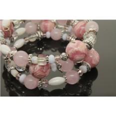 Браслет с натуральным родохрозитом «Нежно-розовый»