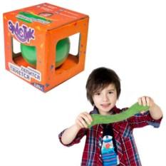 Зеленый тянущийся пластилин «Эластик»