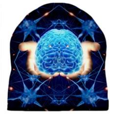 Шапка с 3D печатью Мозг в руках