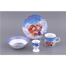 Детский набор посуды «Лыжники»