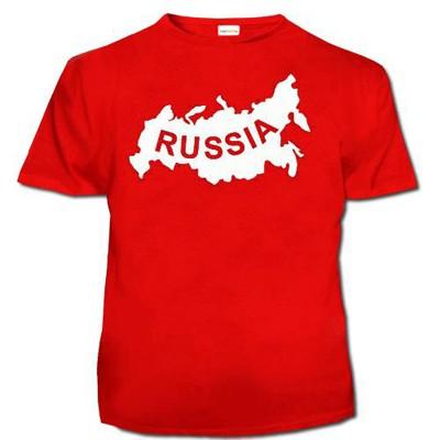 Мужская футболка 'Карта России'