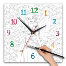 Часы-раскраска для девочек Фея