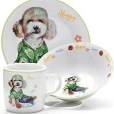 Детский набор посуды 3 предмета Happy Dog