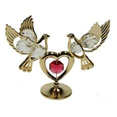 Декоративная фигурка Голуби с красным сердцем