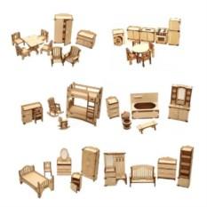 Набор мебели для домиков Полный