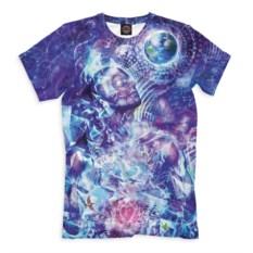 Мужская синяя футболка Psychedelic