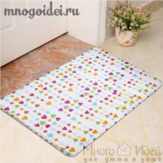 Антискользящий коврик Паттерн: Цветные сердечки