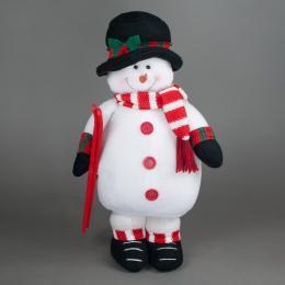 Игрушка Снеговик с лыжами