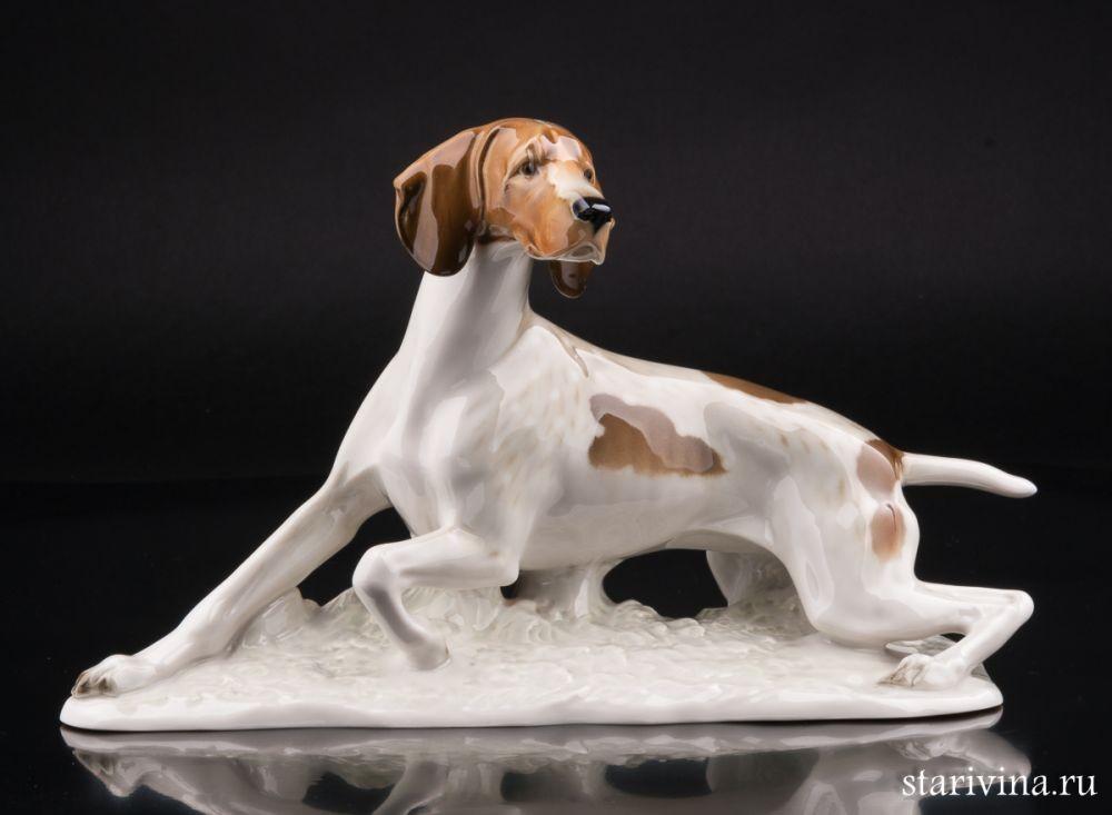 Фарфоровая статуэтка Охотничья собака
