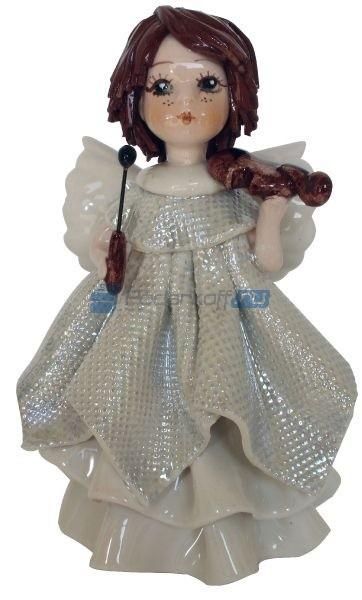 Фарфоровая статуэтка Ангел в белом со скрипкой от Zampiva