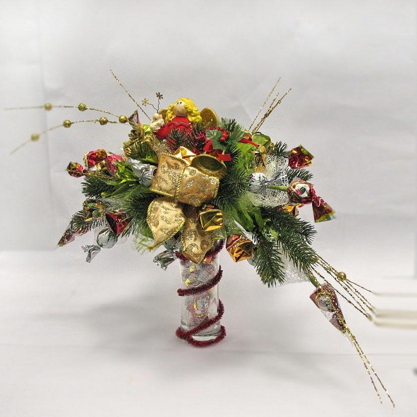 «На кануне рождества» букет из конфет