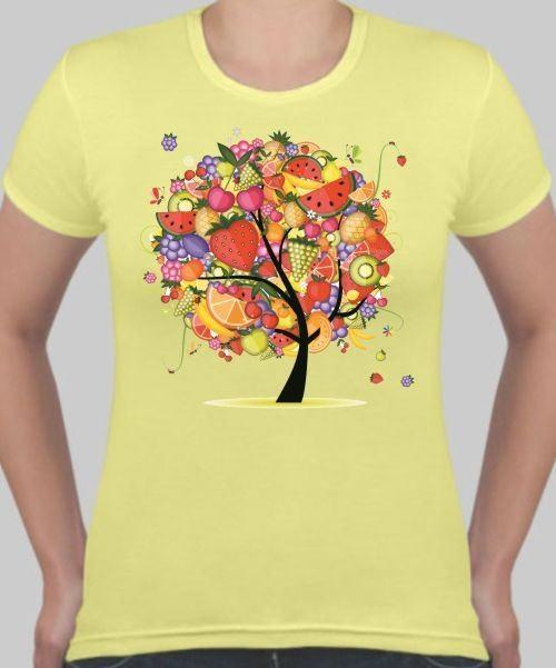 Женская футболка Фруктовое дерево