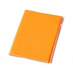 Оранжевый с прозрачной обложкой блокнот Escape