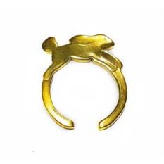 Кольцо Зайка, золото 585