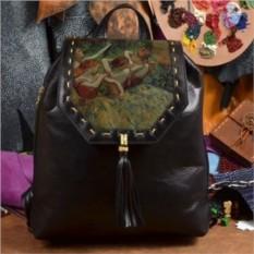Женский кожаный рюкзак ручной работы Танцовщицы Дега