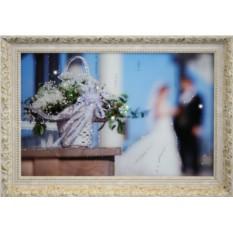 Картина с кристаллами Swarovski Свадебные цветы