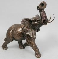 Бронзовая статуэтка слона Бегущий слон