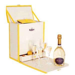 Шампанское белое брют Ruinart + 4 бокала