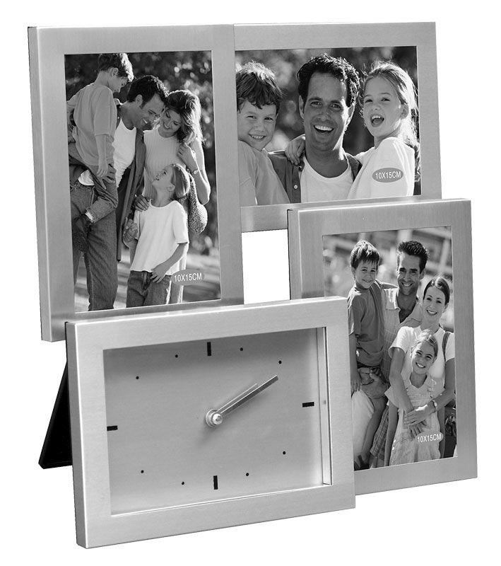 Часы с матовыми фоторамками Триа