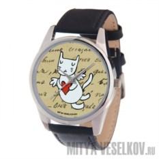 Часы Mitya Veselkov Кот-амур (сердце)