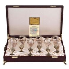 Набор из 6-ти бокалов для шампанского в футляре Богемия