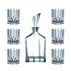 Набор для виски декантер и 6 стаканов Aspen