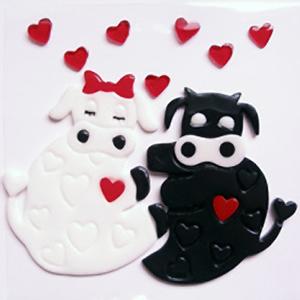 Коровы с сердечками