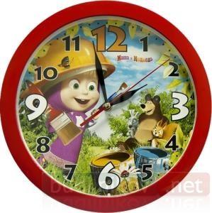Часы настенные Маша и Медведь. День маляра