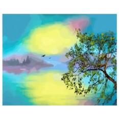 Картина-раскраска по номерам на холсте Рассвет