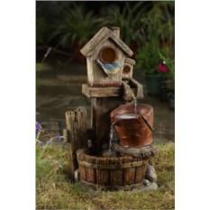 Садовый декоративный фонтан Скворечник