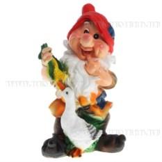 Декоративная садовая фигурка Гном с уточкой