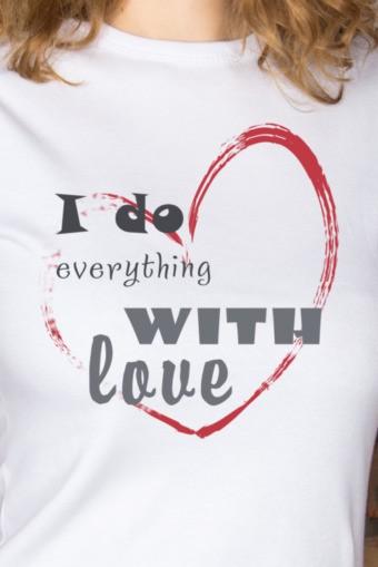 Женская футболка с вашим текстом With love