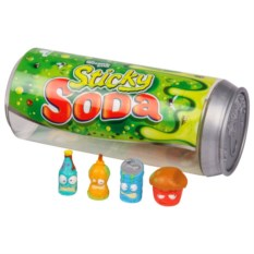 4 фигурки Grossery Gang в упаковке в виде банки содовой