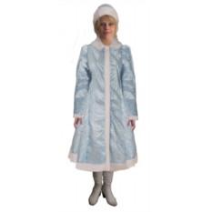 Новогодний костюм снегурочки с шубой и шапкой