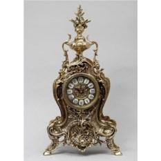 Большие часы с кубком и рыбой из бронзы