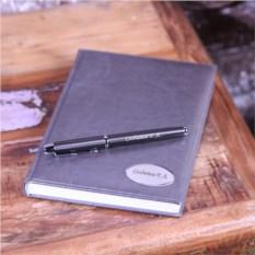 Именной набор из ручки Parker и ежедневника (цвет - серый)