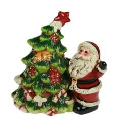 Новогодний сувенир Дед Мороз с ёлочкой