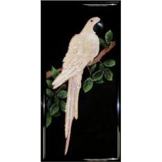 Картина Сваровски Белый попугай, 2608 кристаллов, размер 40х80см