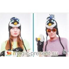 Шапка в виде животного Пингвин
