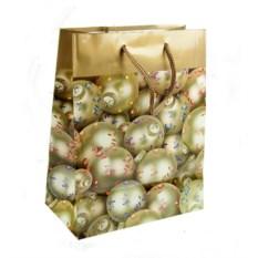 Бумажно-ламинированный пакет Новогодний с шариками