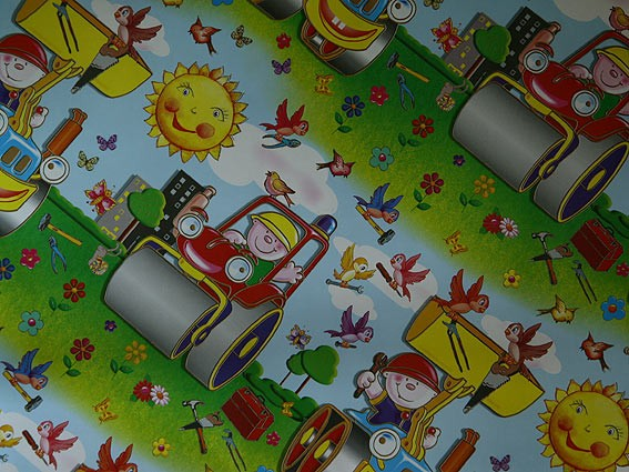 Упаковочная бумага для детских подарков