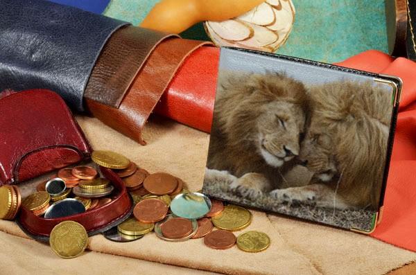 Портмоне с принтом Милые львы