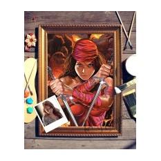 Портрет по фото Девушка с сайами